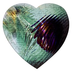 Out Of Time Glass Pearl Flowag Jigsaw Puzzle (heart)