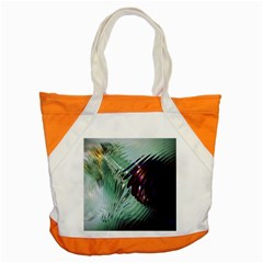 Out Of Time Glass Pearl Flowag Accent Tote Bag