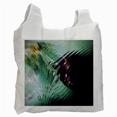 Out Of Time Glass Pearl Flowag Recycle Bag (one Side)