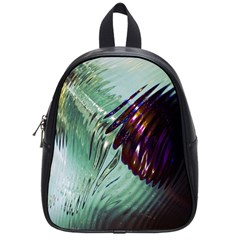 Out Of Time Glass Pearl Flowag School Bags (small)  by Nexatart