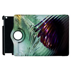 Out Of Time Glass Pearl Flowag Apple Ipad 2 Flip 360 Case by Nexatart