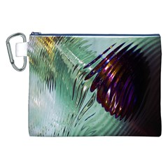 Out Of Time Glass Pearl Flowag Canvas Cosmetic Bag (xxl)