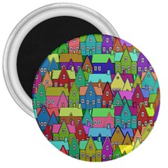 Neighborhood In Color 3  Magnets by Nexatart