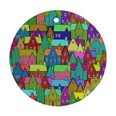 Neighborhood In Color Ornament (round) by Nexatart