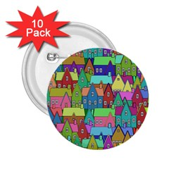 Neighborhood In Color 2 25  Buttons (10 Pack)