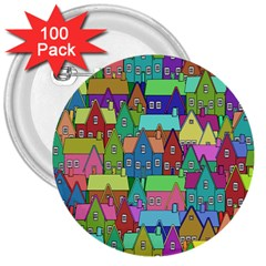 Neighborhood In Color 3  Buttons (100 Pack)