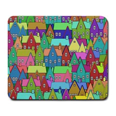 Neighborhood In Color Large Mousepads
