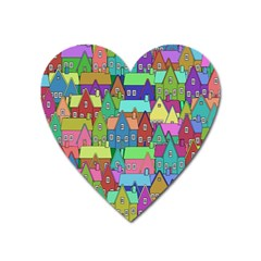 Neighborhood In Color Heart Magnet by Nexatart