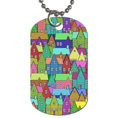 Neighborhood In Color Dog Tag (two Sides) by Nexatart
