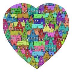 Neighborhood In Color Jigsaw Puzzle (heart)