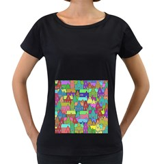 Neighborhood In Color Women s Loose Fit T Shirt (black) by Nexatart