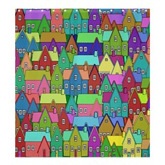 Neighborhood In Color Shower Curtain 66  X 72  (large)