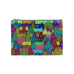 Neighborhood In Color Cosmetic Bag (medium)  by Nexatart