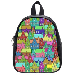 Neighborhood In Color School Bags (small)  by Nexatart