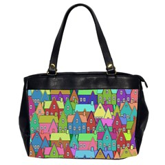 Neighborhood In Color Office Handbags (2 Sides)  by Nexatart