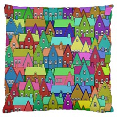 Neighborhood In Color Large Cushion Case (one Side)