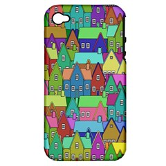 Neighborhood In Color Apple Iphone 4/4s Hardshell Case (pc+silicone) by Nexatart