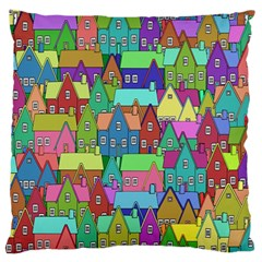 Neighborhood In Color Large Flano Cushion Case (two Sides)