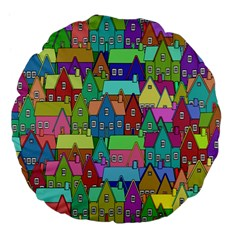 Neighborhood In Color Large 18  Premium Flano Round Cushions by Nexatart
