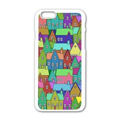 Neighborhood In Color Apple Iphone 6/6s White Enamel Case by Nexatart