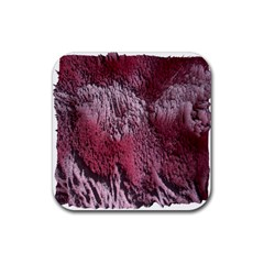 Texture Background Rubber Square Coaster (4 Pack)
