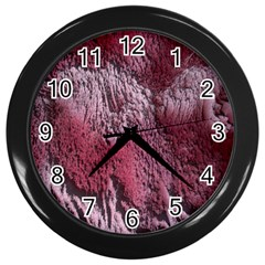 Texture Background Wall Clocks (black) by Nexatart