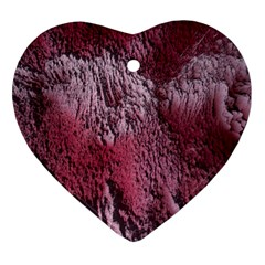 Texture Background Heart Ornament (two Sides) by Nexatart