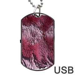 Texture Background Dog Tag Usb Flash (one Side)