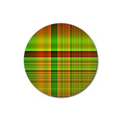 Multicoloured Background Pattern Magnet 3  (round) by Nexatart