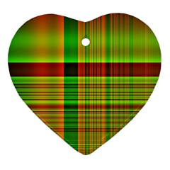 Multicoloured Background Pattern Heart Ornament (two Sides) by Nexatart