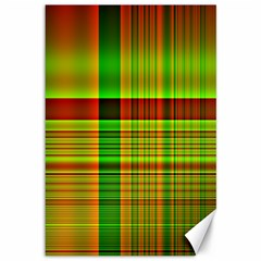 Multicoloured Background Pattern Canvas 12  X 18