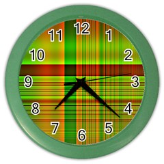 Multicoloured Background Pattern Color Wall Clocks