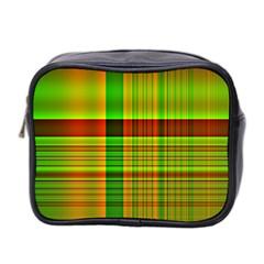 Multicoloured Background Pattern Mini Toiletries Bag 2 Side by Nexatart