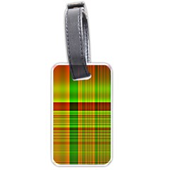 Multicoloured Background Pattern Luggage Tags (two Sides) by Nexatart