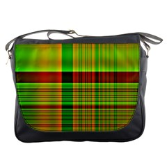 Multicoloured Background Pattern Messenger Bags by Nexatart