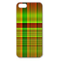 Multicoloured Background Pattern Apple Seamless Iphone 5 Case (clear)
