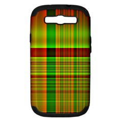 Multicoloured Background Pattern Samsung Galaxy S Iii Hardshell Case (pc+silicone) by Nexatart