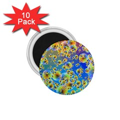 Color Particle Background 1 75  Magnets (10 Pack)  by Nexatart
