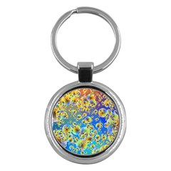 Color Particle Background Key Chains (round)  by Nexatart
