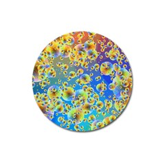 Color Particle Background Magnet 3  (round)