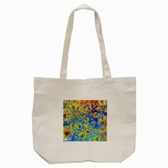 Color Particle Background Tote Bag (cream)