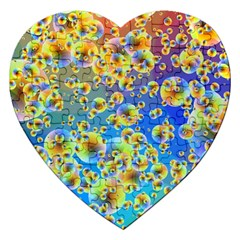 Color Particle Background Jigsaw Puzzle (heart) by Nexatart