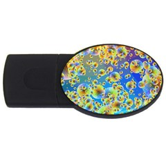 Color Particle Background Usb Flash Drive Oval (4 Gb)