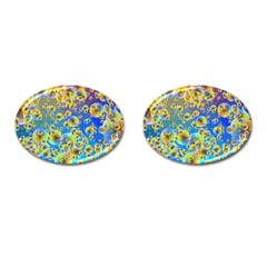 Color Particle Background Cufflinks (oval)