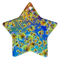 Color Particle Background Star Ornament (two Sides)