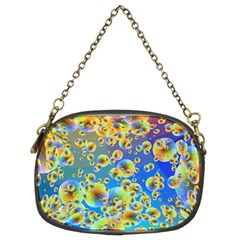 Color Particle Background Chain Purses (two Sides)  by Nexatart
