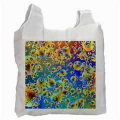 Color Particle Background Recycle Bag (one Side)