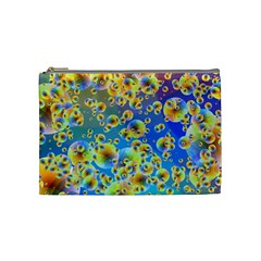 Color Particle Background Cosmetic Bag (medium)  by Nexatart