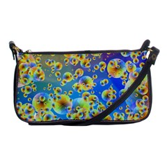 Color Particle Background Shoulder Clutch Bags