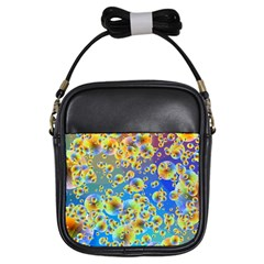 Color Particle Background Girls Sling Bags by Nexatart